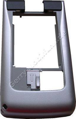 Unterschale Tastatur Original Nokia N90 schwarz, Pearl Black incl. Akkufachverschluß, Ladekonnektor, Antennenmodul, Speicherkartenabdeckung Back Cover