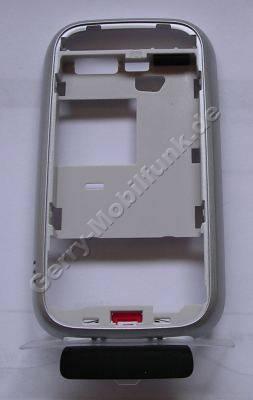 Unterschale original Nokia 6111 silber, B-Cover Gehäuseträger, Akkuaufnahme