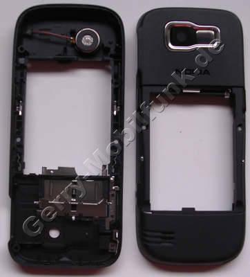 Unterschale schwarz Nokia 2630 original Rückenschale, Gehäuserahmen incl. Simkartenhalter, Kamerascheibe, Vibrationsmotor, Fototaste, Auslösertaste