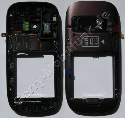 Unterschale aubergine Backcover Nokia C7-00 original B-Cover mit Kamerascheibe incl. Simkartenleser, Freisprechlautsprecher, Blitzlicht, interne Antennen Wlan Bluetooth und GSM, Kamerascheibe, Seitentasten für Lautstärke, Kamera und Sperrtaste, Verriegelungstaste für Tastensperre, Ein/Aus Tastenmatte, USB-Abdeckung, GPS-Antenne