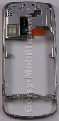 Unterschale silber Nokia 6260 Slide original Backcover, B-Cover mit Kameralinse, Lautstärketaste, Tastenmatte Kamerauslöser Fototaste, Blitzlichtmodul, Ladebuchse, Headsetbuchse Konnektor Kopfhörer