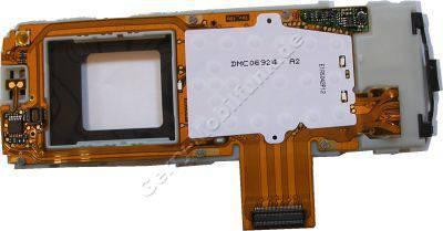 Tastatur-Platine f�r Nokia 9500 original Flachbandkabel voll best�ckt ( Einschalttaster, Funktionistasten gr. Display, Konnektoren etc.)