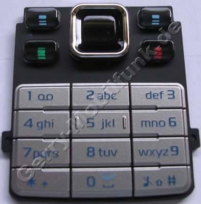 Tastenmatte silber Nokia 6300 original Tastatur