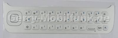 Tastenmatte weiss QWERTZ Nokia N97 original Tastatur