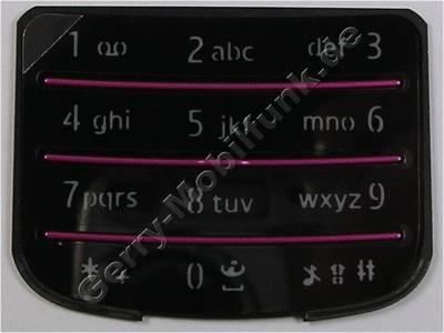 Tastenmatte schwarz glänzend Nokia 6700 Classic original Telefon Tastatur black polished