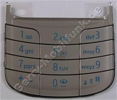Tastenmatte silber Nokia 6260 Slide original Tastatur vom Telefon burning silver