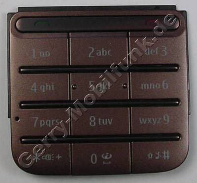 Tastenmatte braun Nokia C3-01 ( Touch and Type ) original Tastenmatte copper brown Tastaturmatte