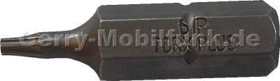 Torx 6 PLUS Bit-Einsatz 1/4 Zoll aus gehärtetem Werkzeugstahl für den professionellen Einsatz zum öffnen der Geräteschrauben bei Reparaturen und Display-Umbauten TX6 Plus, IP6, TX 6+