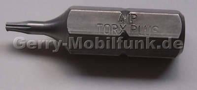 Torx 4 PLUS Bit-Einsatz 1/4 Zoll aus gehärtetem Werkzeugstahl für den professionellen Einsatz zum öffnen der Geräteschrauben TX4+