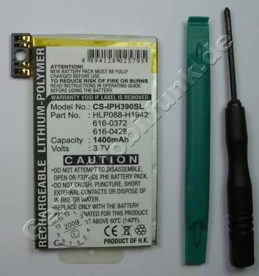 Akku für Apple iPhone 3G Li-Polymer 3,7Volt 1400mAh ca.30g (Akku vom Markenhersteller, nicht original)