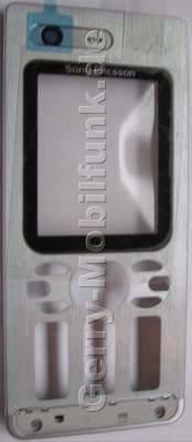 Oberschale silber SonyEricsson W880i original Cover mit Displayscheibe