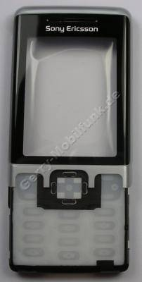 Oberschale hellblau SonyEricsson C702i original Front Cover mit Displayscheibe, A-Cover, cyan splash