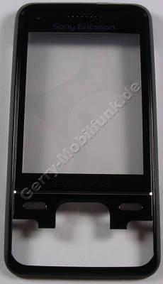Oberschale schwarz mit Displayscheibe SonyEricsson C903i Cover