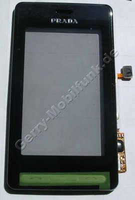 Oberschale mit Bedienfeld LG KE850 Prada original Cover mit Sensor Tasten und Displayscheibe, Touchscreen