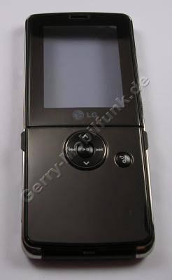Oberschale LG KM380 original Cover mit Klappe und Player-Tastenmatte, Seitentasten, Abdeckung Ladeanschluß, Abdeckung Speicherkartenschacht