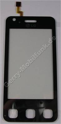 Displayscheibe, Touchpanel LG KC910 Renoir original Bedienfeld, aktive Scheibe