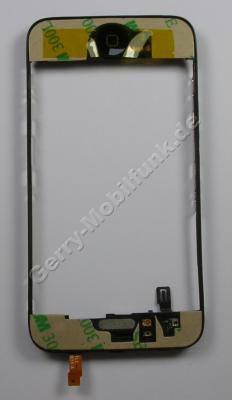 Gehäuserahmen Apple iPhone 3G Rahmen unter der Displayscheibe mit Lautsprecher, Menütaste