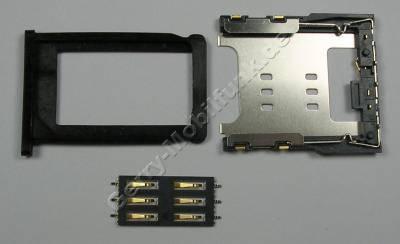 3er Set Simkartenhalter, Simkartenleser, Simkartenfach schwarz Apple iPhone 3Gs Kartenfach black mit Blechahalterung und Kartenleser