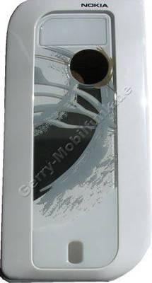 C-Cover (Rahmen) Nokia für Logo silver brush 7610 silber