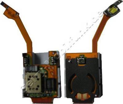 Audio-Kammer, Audio-Modul Original Nokia N90 Lautsprecher-Kammer incl. Blitzlicht, Flexkabel und Einschalter, Powerkey