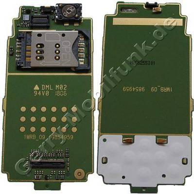 Tastaturplatine original Nokia 6111 mit Displayplatine, Simkartenhalter, Simkartenleser, Lautsprecher, Tastaturfolie der Menütasten