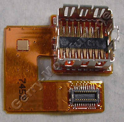 Kameraflex Original Nokia 6500 Slide, Flachbandkabel der Kamera mit Kamerasockel