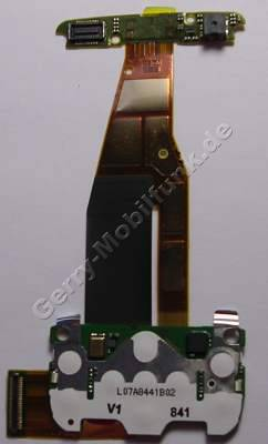 Flexfolie Nokia 6600 slide original Flexkabel, Verbindungskabel der beiden Baugruppen mit Tastaturmodul der Menütasten incl. Mikrofon