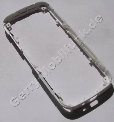 Gehäuserahmen Nokia 5235 original B-Cover weiss mit Lautstärketaste, Einschalttaste, Fototaste, Abdeckung USB Anschluß, white matt