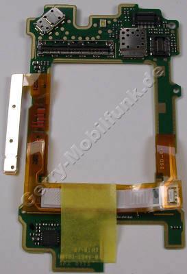 Displayplatine Nokia 6650 fold original Platine rund ums Display mit Seitentasten