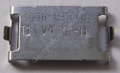 Halteblech Tastatur Konnektor Nokia E7-00 original Halter, Sicherung vom Tastaturanschluß