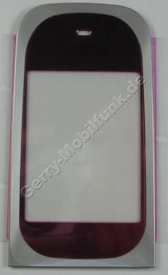 Displayscheibe pink Nokia 7020 original Displayfenster hot pink