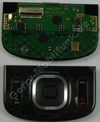 Menütasten schwarz Nokia 6260 Slide  Tastaturmodul mit Platine, Mikrofon, IO-Modul Tastastur-Elektronik, Tastenmatte Navitasten black
