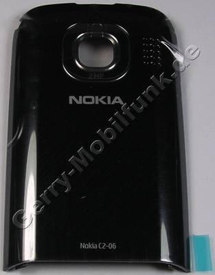 Akkufachdeckel schwarz Nokia C2-03 original Back Cover, Batteriefachdeckel black