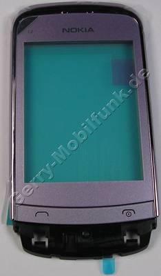 Oberschale mit Displayscheibe lila Nokia C2-03 original A-Cover Lilac mit Touchpanel, Lautsprecher, Displayglas